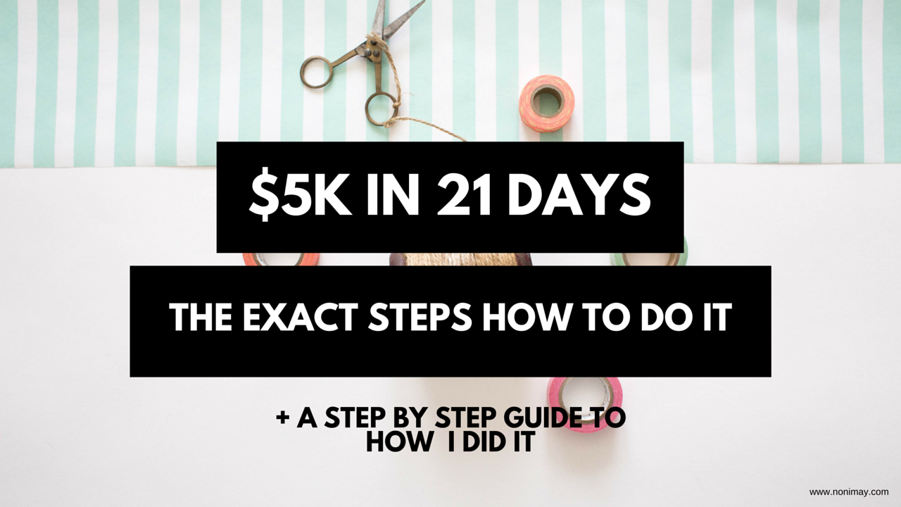 $5k in 21 days ebook
