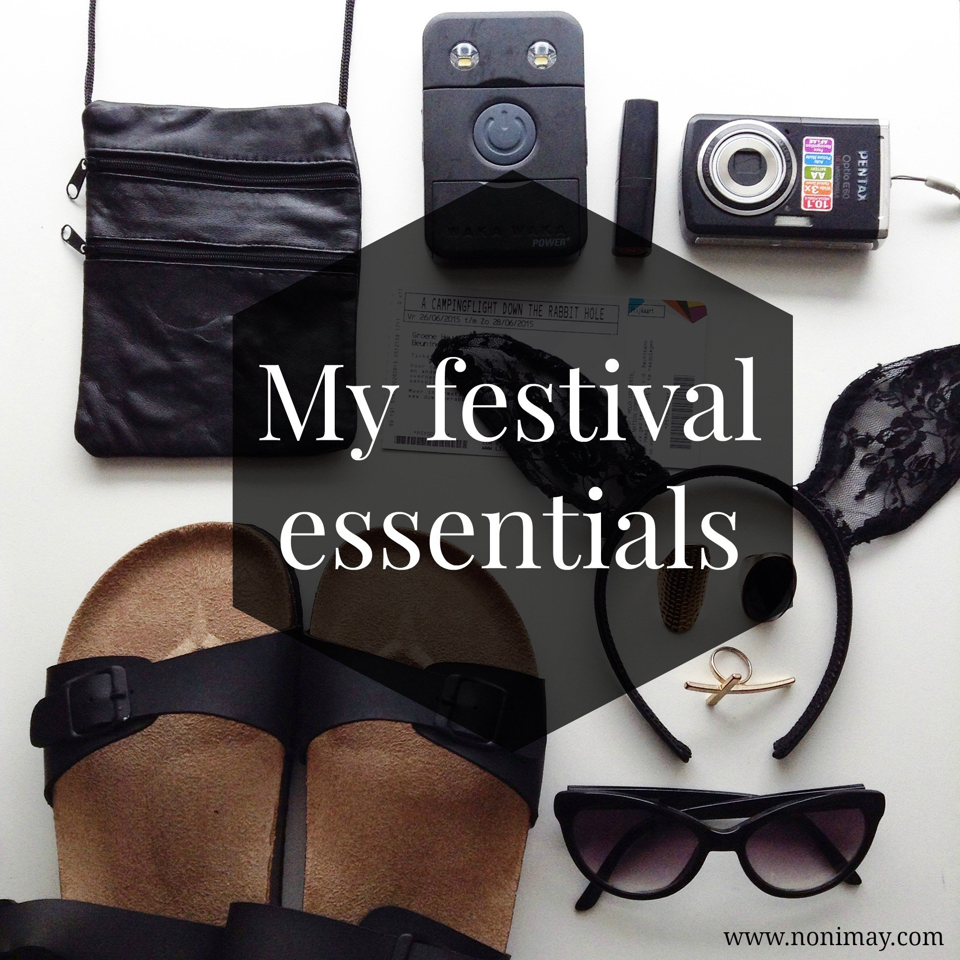 My festival essentials