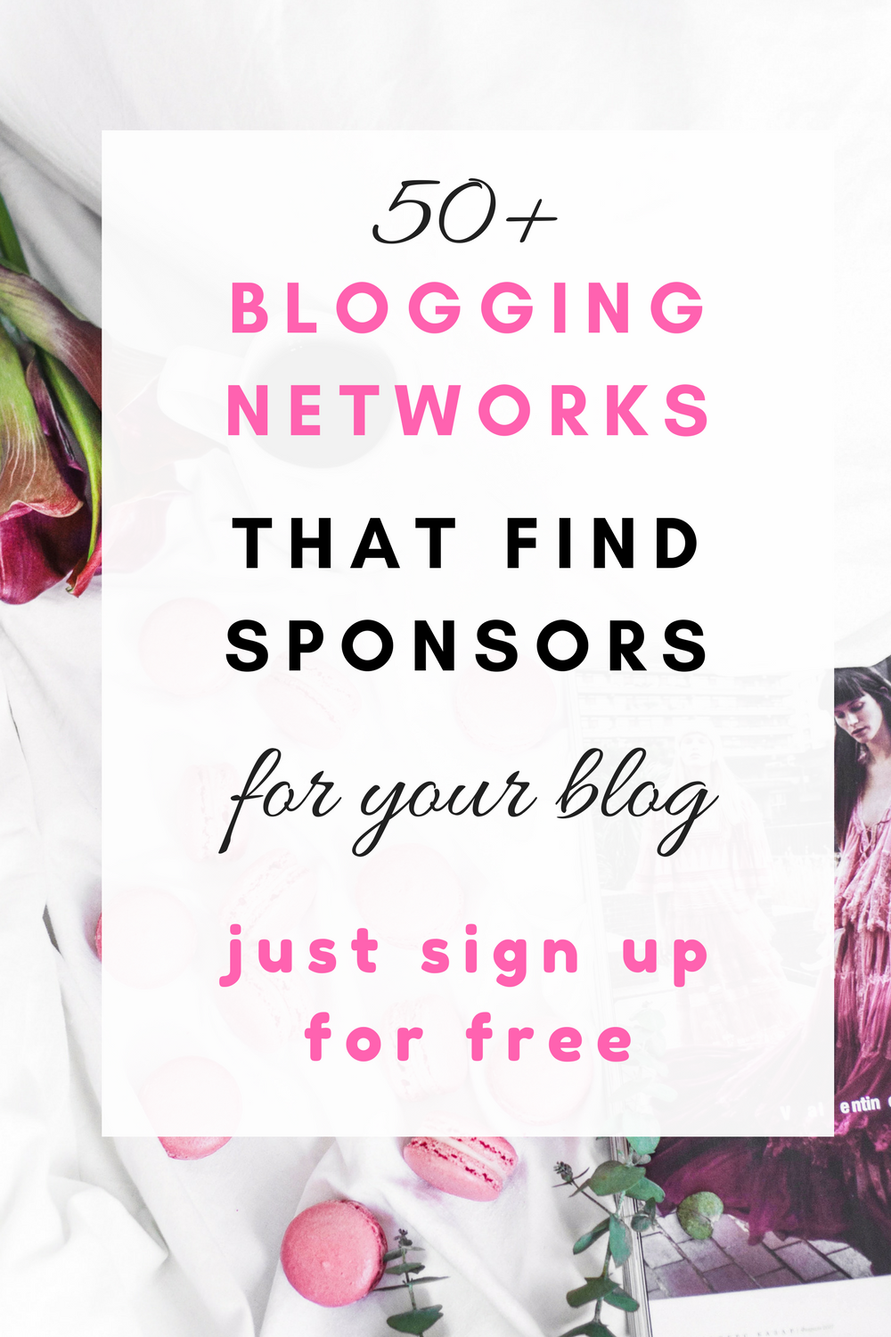50 blogging netowrks that find sponsors for your blog just signup for free