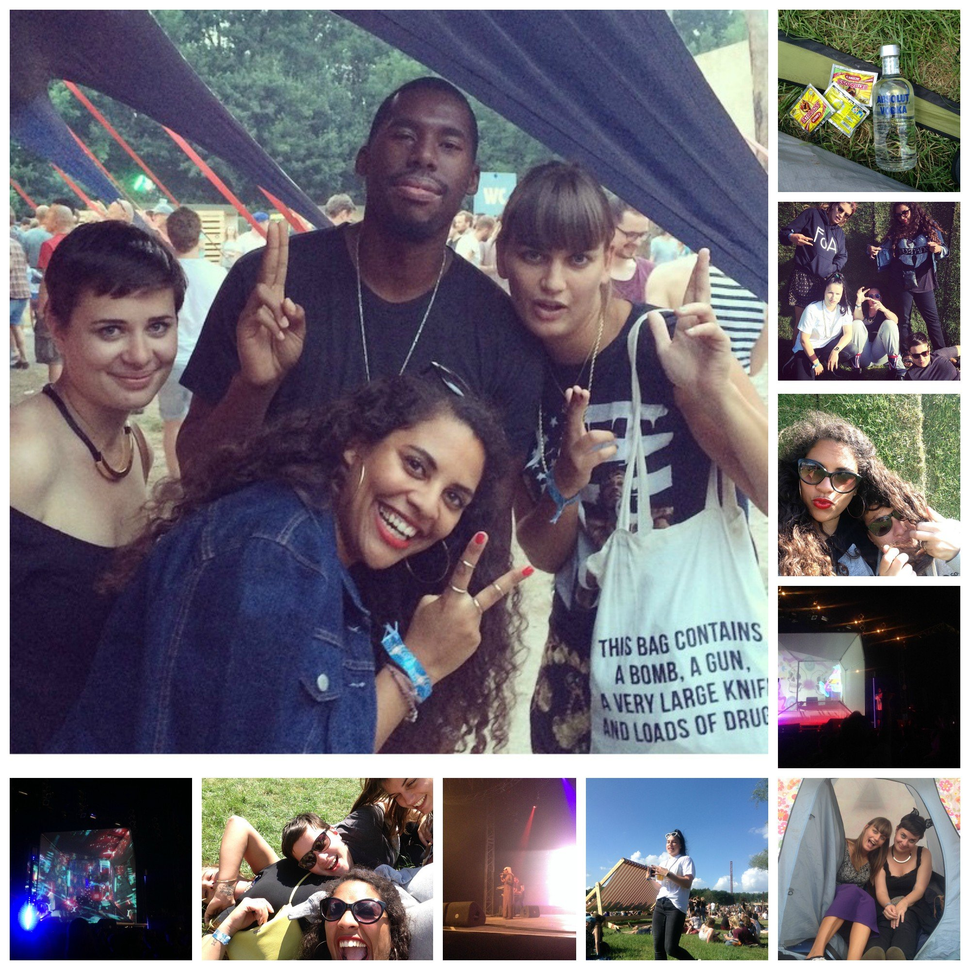 Down the rabbit hole festival collage noni may flying lotus