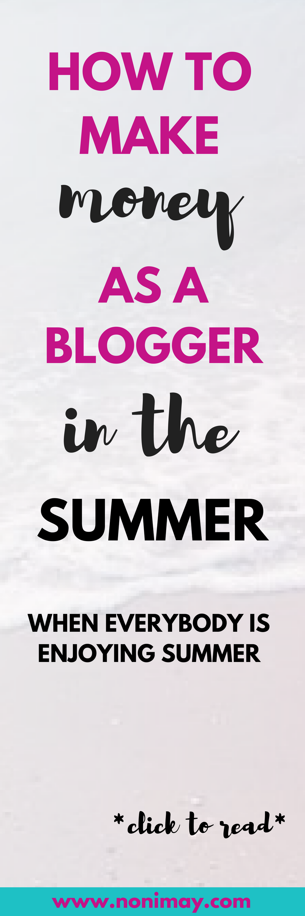 How to make money as a blogger in the summer when summer sales are slow and everybody is enjoying summer