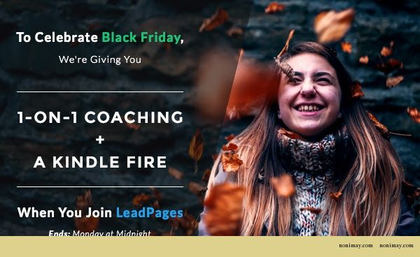 lead pages black friday