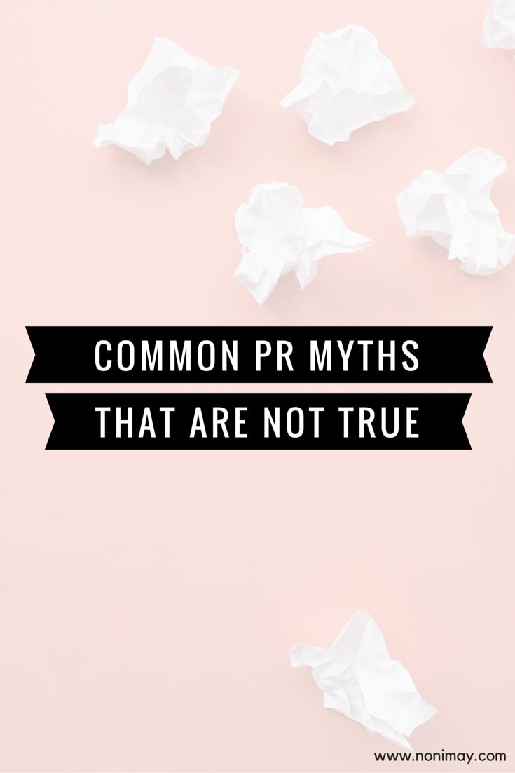 Common PR Myths - start Oh My Press