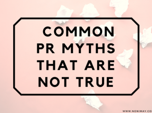 - common PR myths that are NOT true