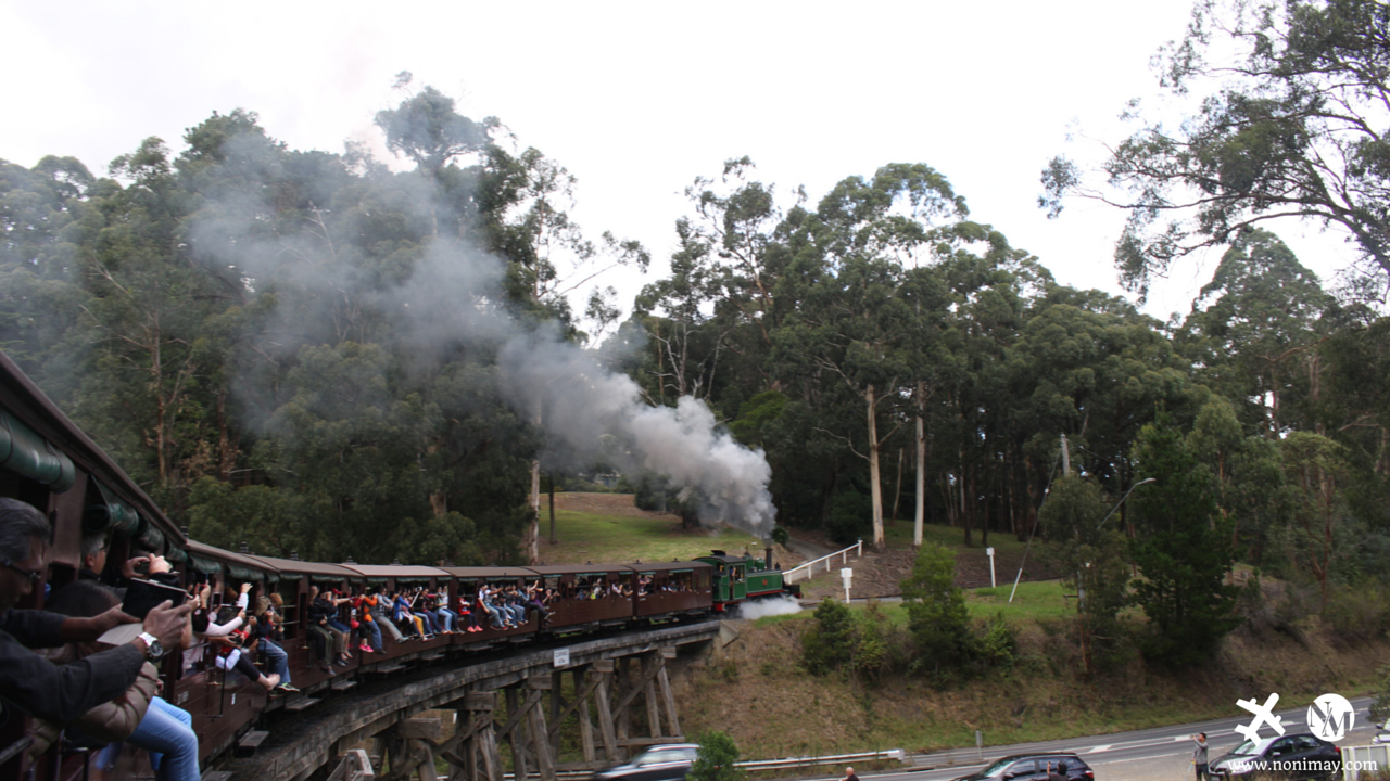 Australian backpack tour from Melbourne Puffing Billy