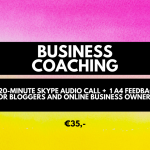 Business coaching. Micro investment, cheap services for bloggers and business owners.