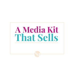 Free email course a media kit that sells to find sponsors as a blogger