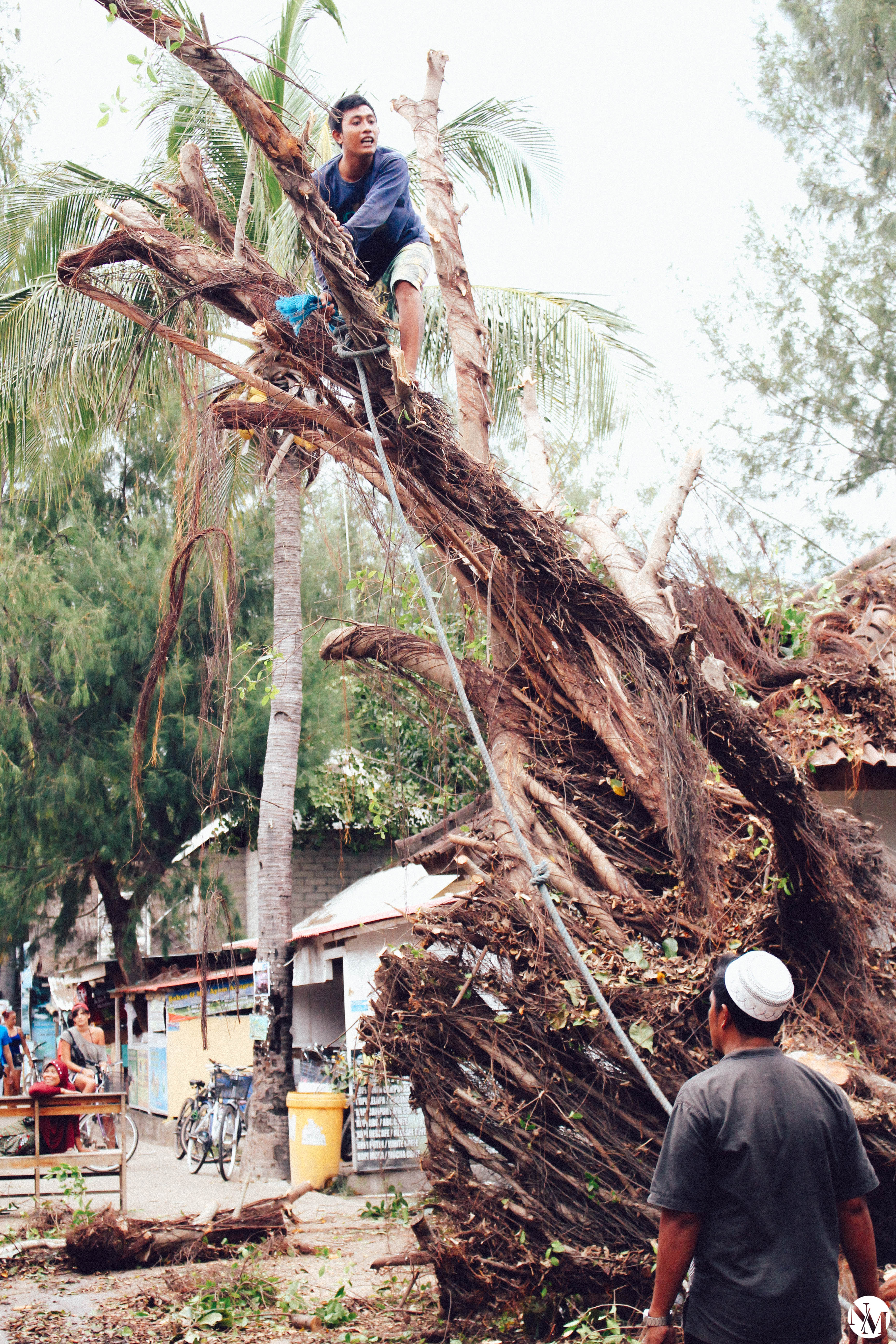 Gili Island Destroying Storm Indonesia