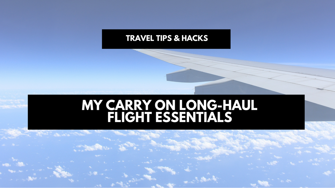 My carry on long-haul flight essentials for travelers and digital nomads