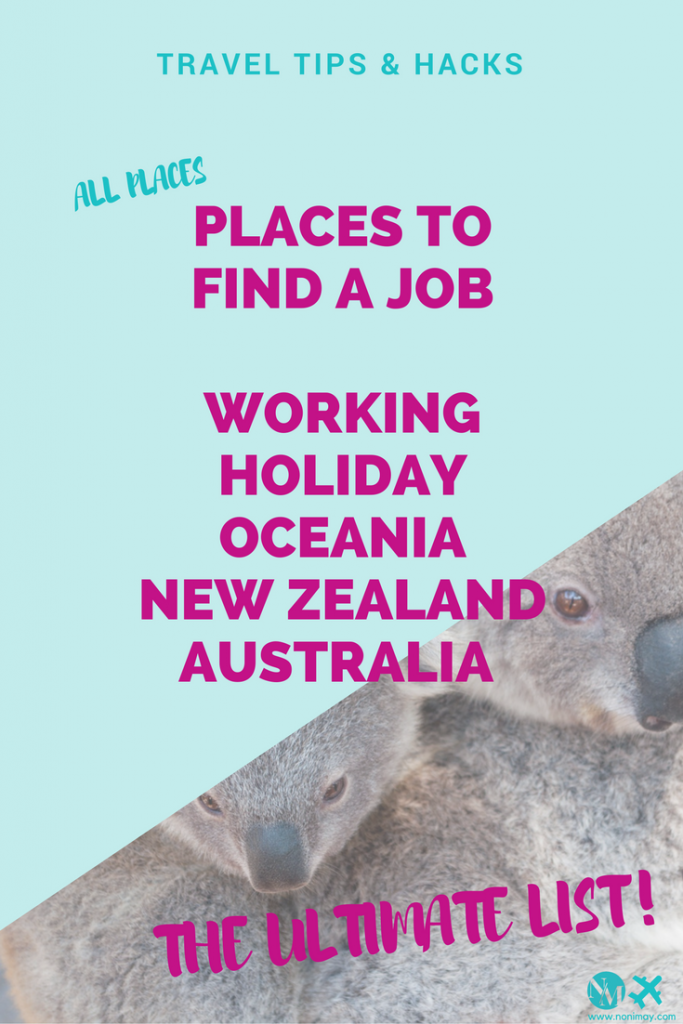 places to find a job working holiday oceania new zealand australia