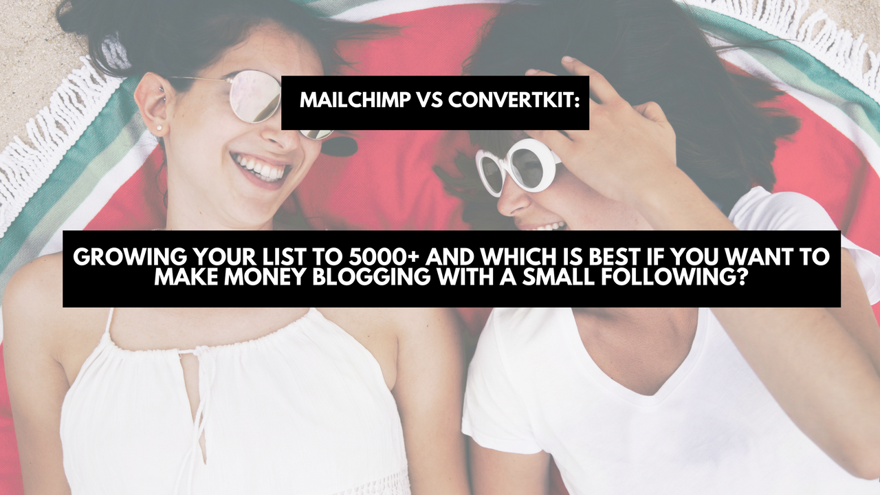 Mailchimp vs Convertkit: growing your list to 5000+ and which is best if you want to make money blogging with a small following?