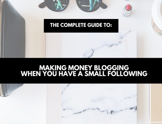 making money blogging when you have a small following