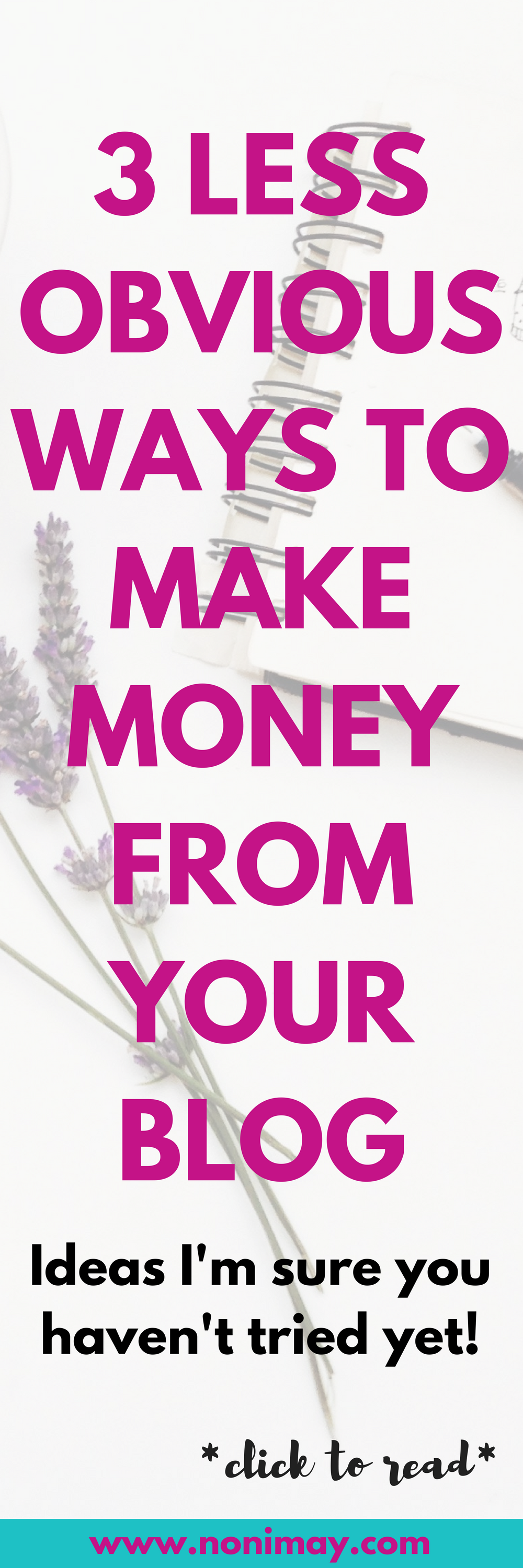 Three less obvious ways to make money from your blog