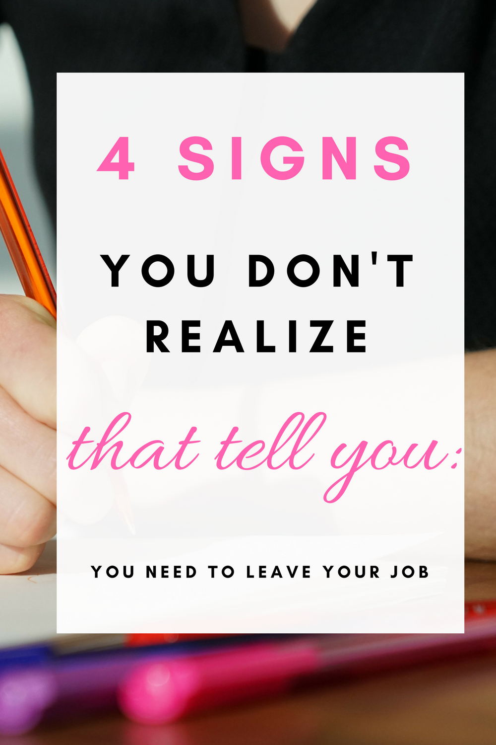 4 signs you need a new job