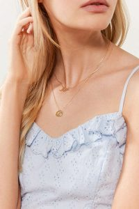 Urban Outfitter Gifts Under $25 all bloggers will love bloggers gift guide. Zodiac Layering Charm Necklace Set