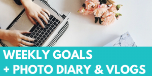 Weekly goals, vlog and photo diary. Read all business goals and personal goal lists