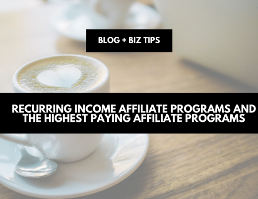 recurring income affiliate programs and the highest paying affiliate programs