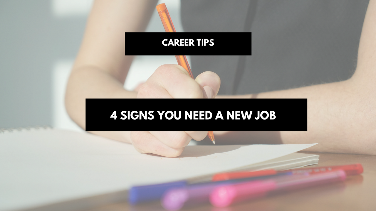 signs you need a new job