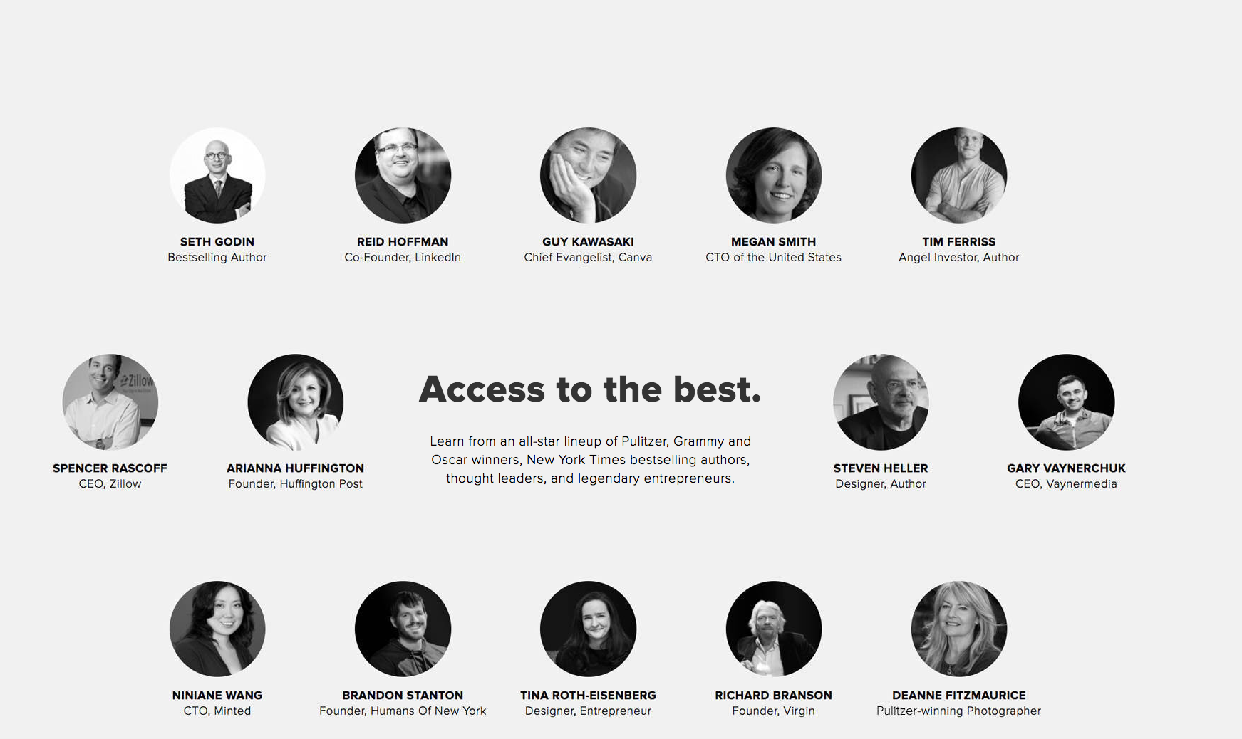 CreativeLive online courses by arianna huffington, gary vee, gary vaynerchuck and tim ferris