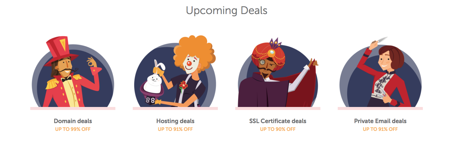 Namecheap proudly presents your Black Friday Spectacular, packed with extraordinary hourly deals across our product range. But you'll need to be quick — these offers will vanish before you know it!