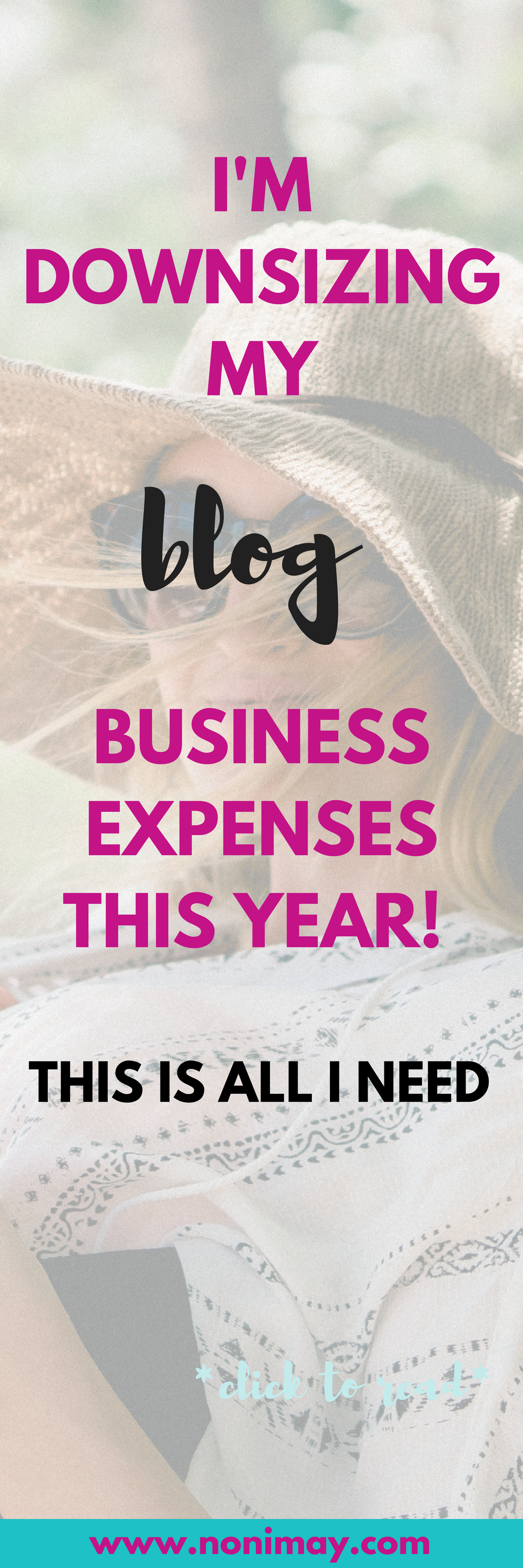 I'm downsizing my blog business expenses this year! This is all I need.