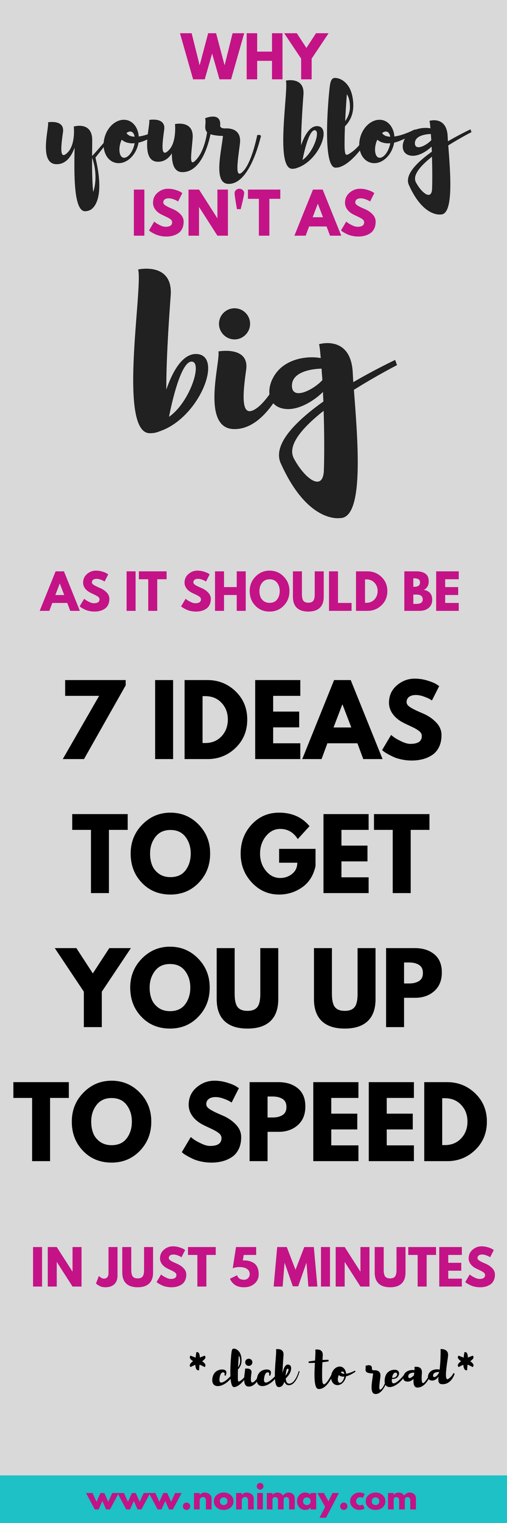 Why your blog isn't as big as it should be and 7 ideas to get you up to speed in just 5 minutes