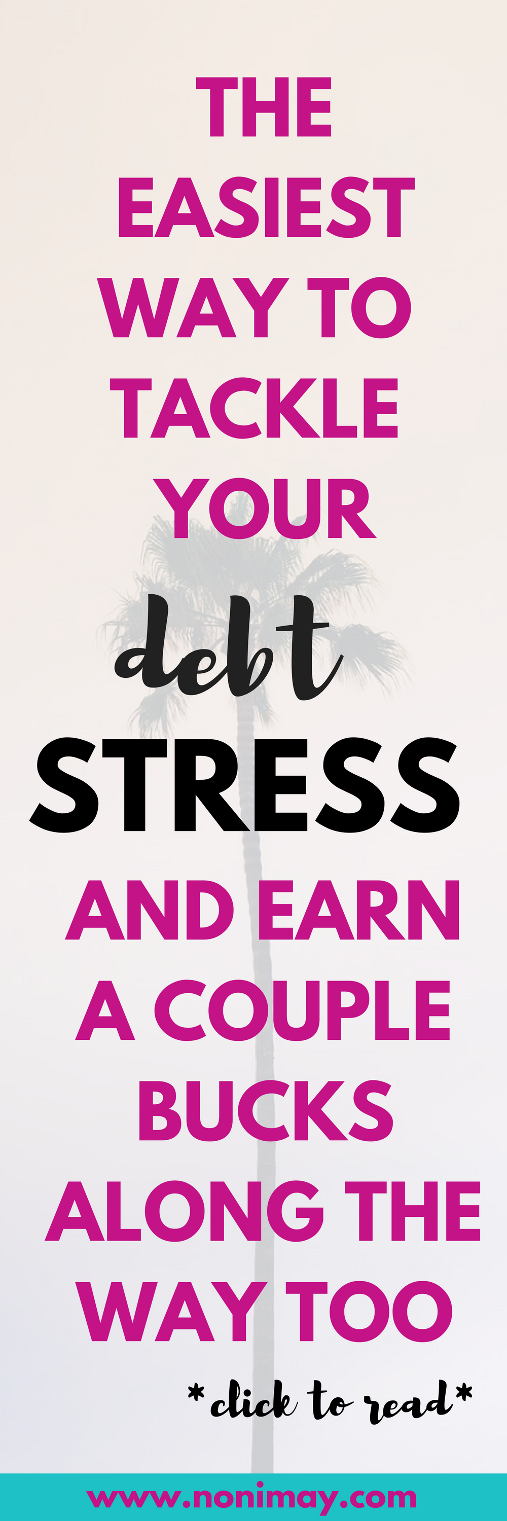 Dealing with debt stress and overcoming debt by paying off debt