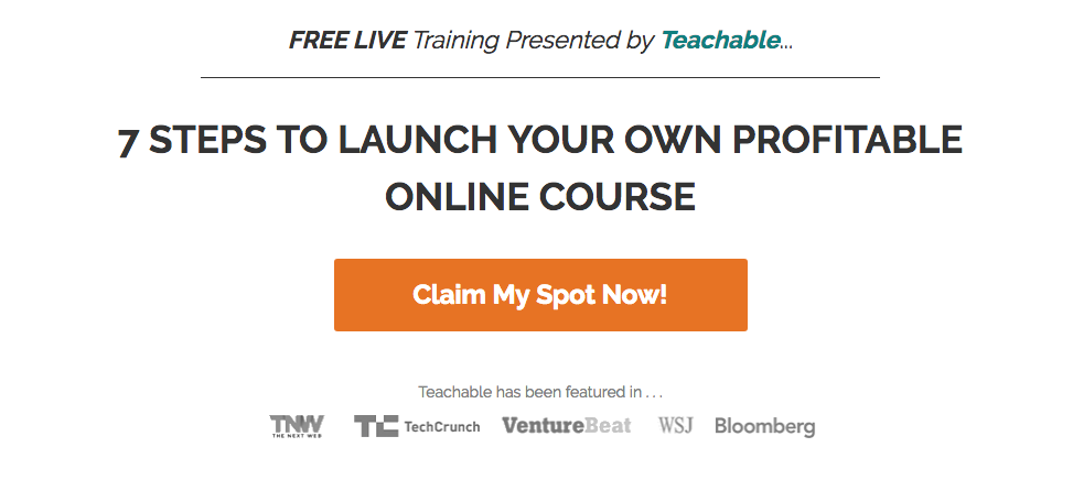 Free live training 7 steps to launch your own profitable online course