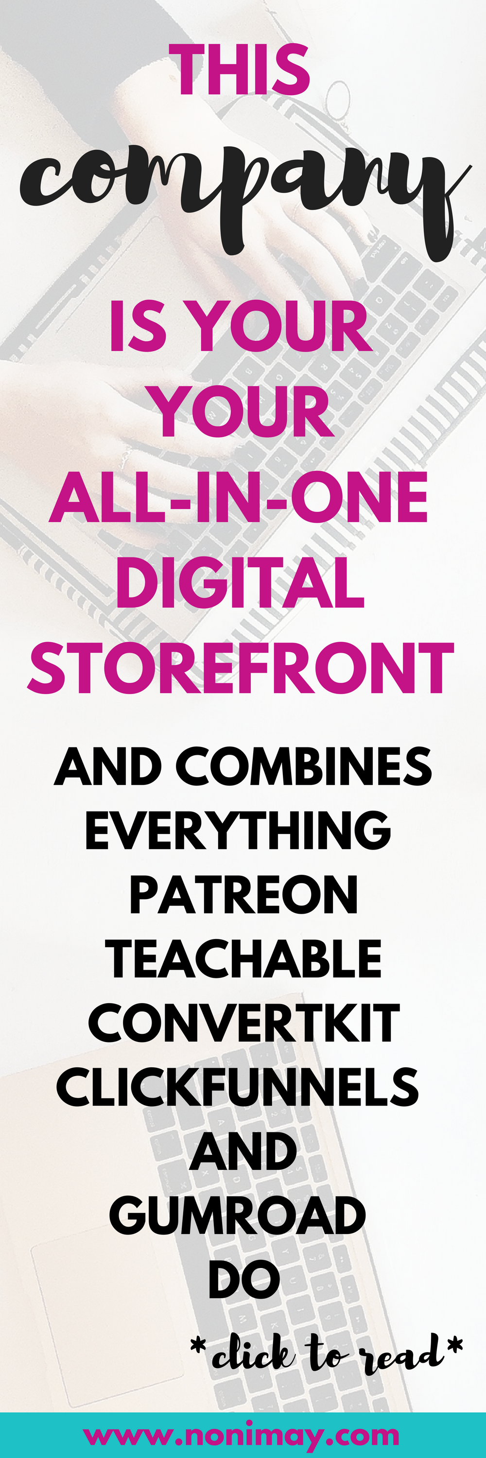 This company is your all-in-one digital storefront and combines everything. Patreon, Teachable and Convertkit
