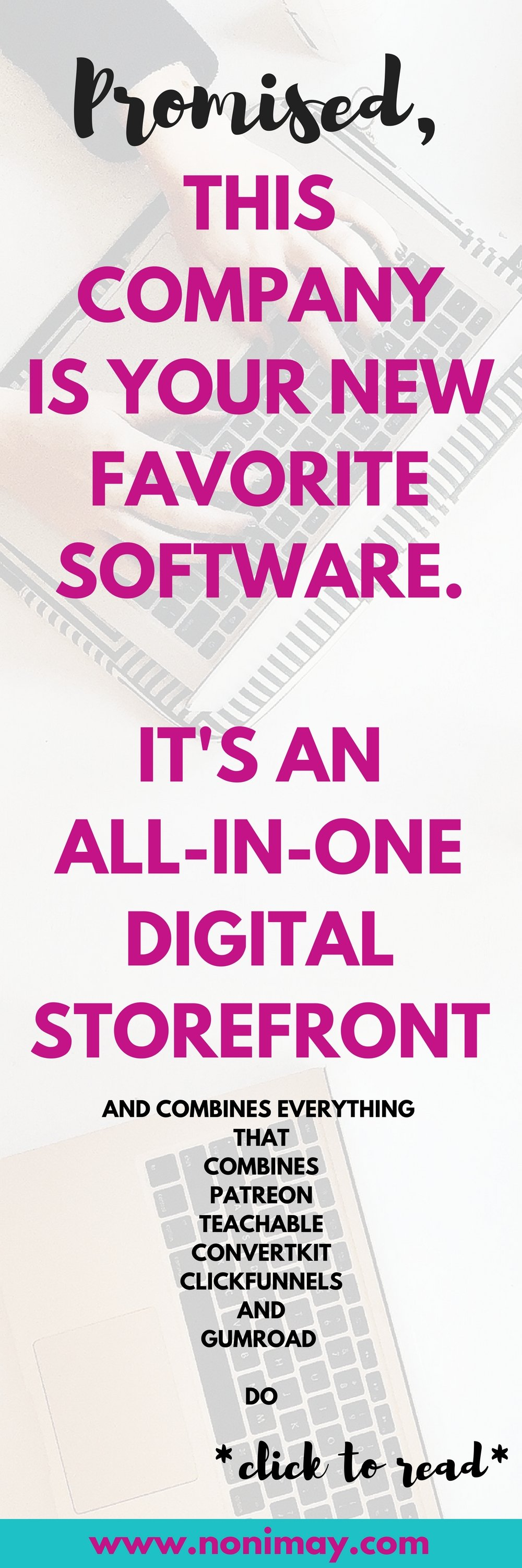 This company is your new favorite software. It's an all in one storefront to sell your courses, membership site, email marketing and more
