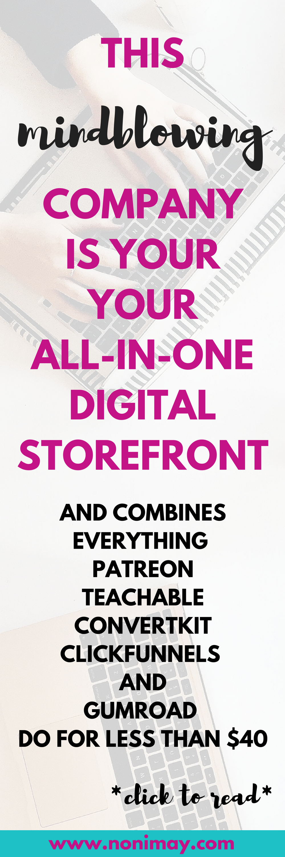 This mindblowing company is your all-in-one digital storefront and combines teachable convertkit and clickfunnels