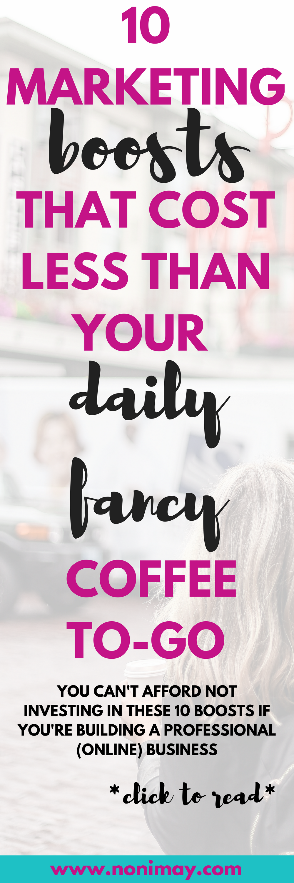 10 marketing boosts that cost less than your daily coffee to-go