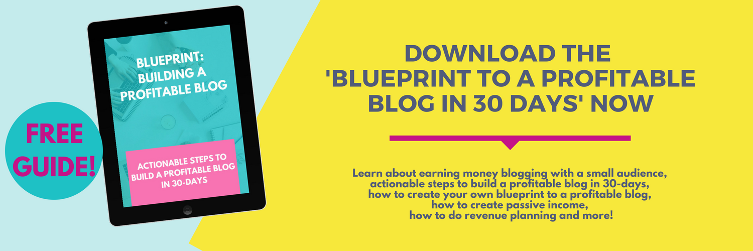 download the 'Blueprint to a profitable blog in 30 days' now DEF