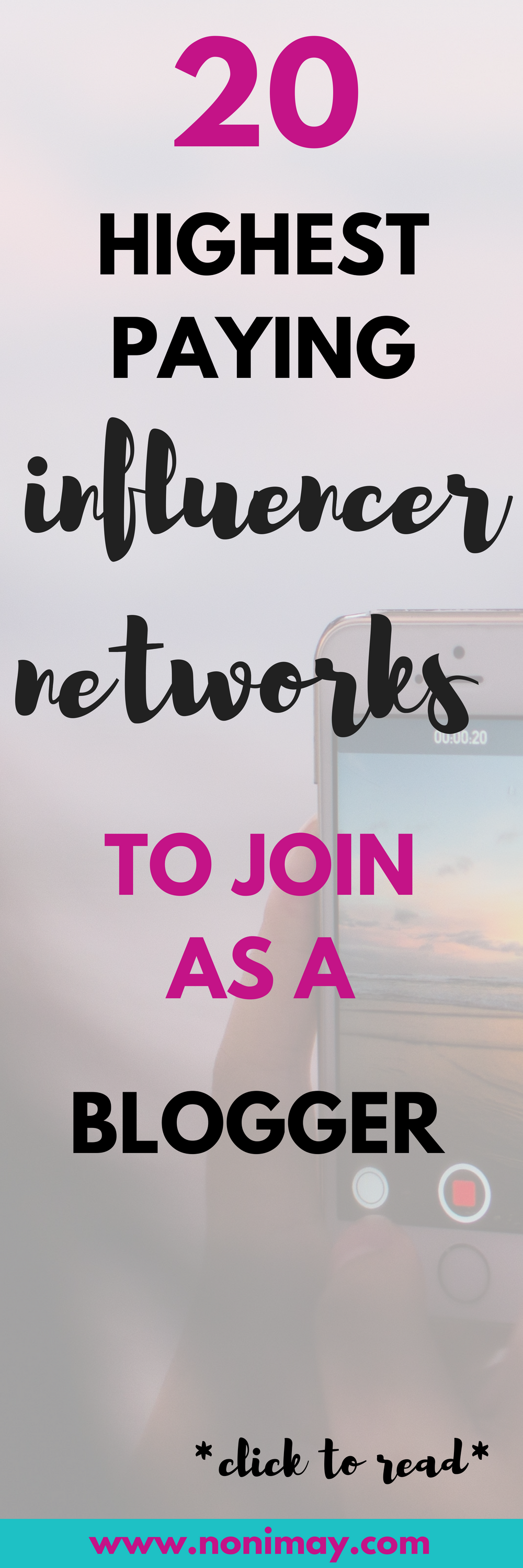 20 highest paying influencer agencies to join as a blogger