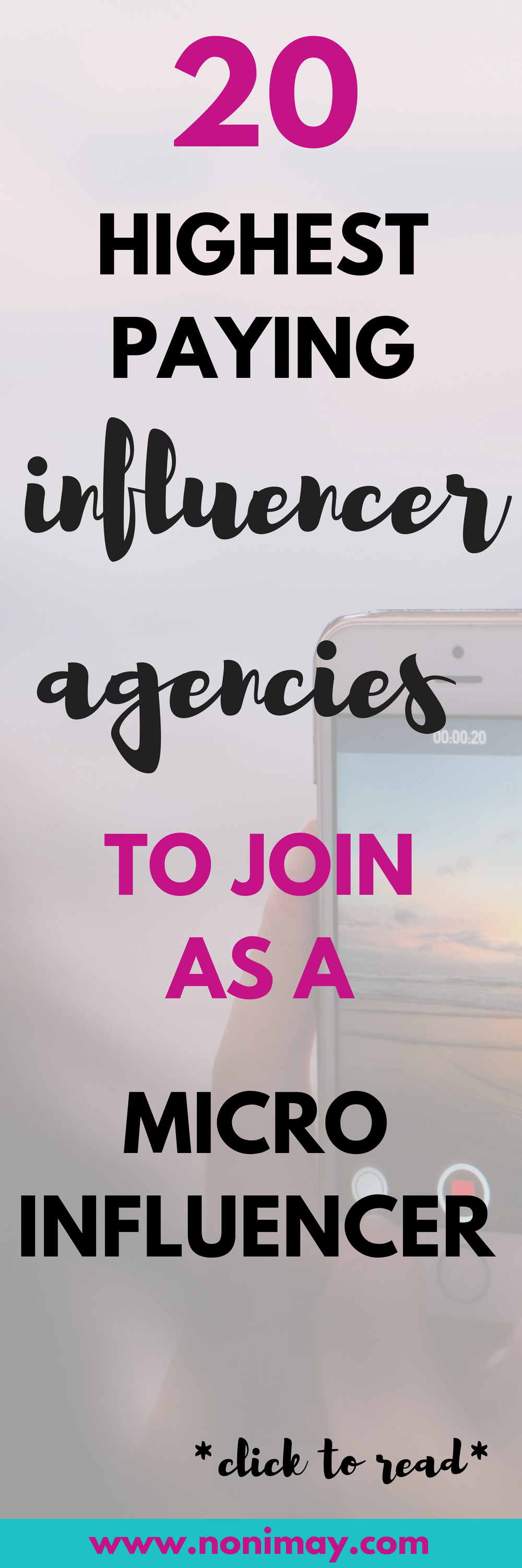 20 highest paying influencer agencies to join as a micro influencer