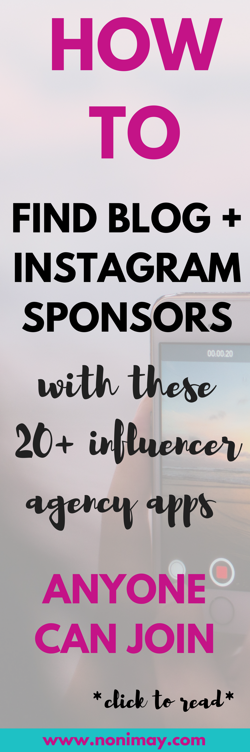 How to find instagram and blog sponsors with these 20 high paying influencer agencies