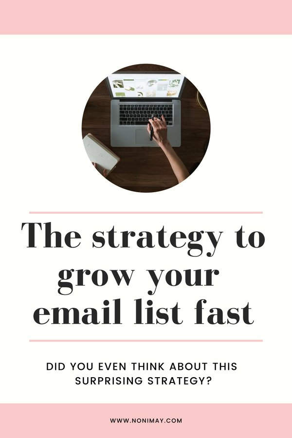 The strategy to grow your email list fast. Did you even think about this surprising strategy